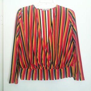 Zara Trafaluc stripped long sleeve top